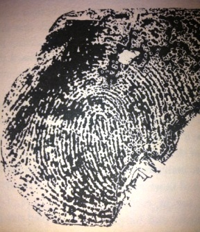 The fingerprint of the killer